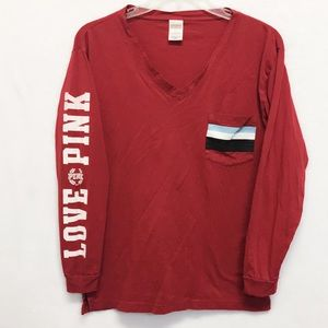 Victoria's Secret Pink Long Sleeve Tee Size Small